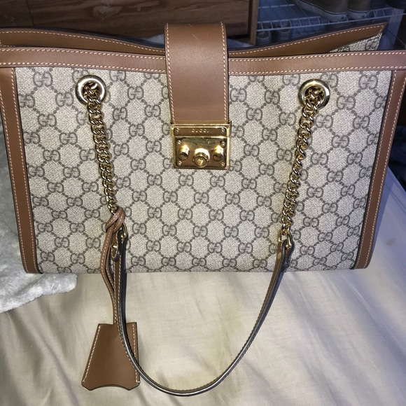 1cdbf4e47 Gucci Bags | Padlock Med Gg Supreme Canvas Shoulder Bag | Poshmark